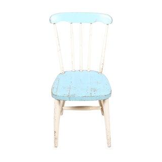 1920s Swedish Aqua & White Child's Chair