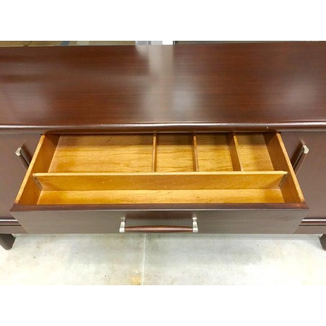 Brown Saltman Mid-Century Dresser Buffet Credenza - Image 6 of 11