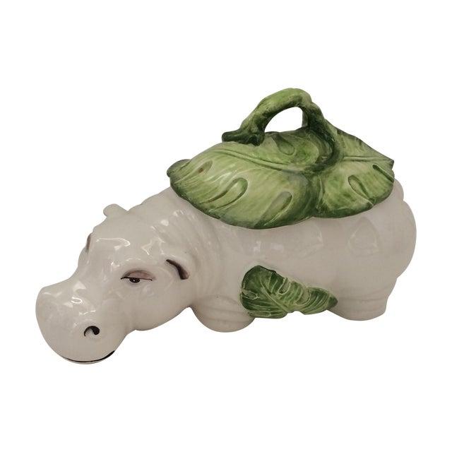 Image of Italian Ceramic Hippo Box