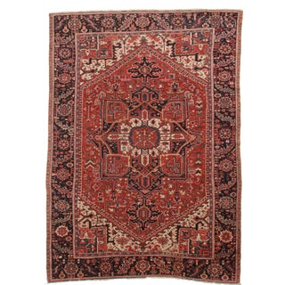Hand-Knotted Wool Persian Hariz - 7′7″ × 10′10″
