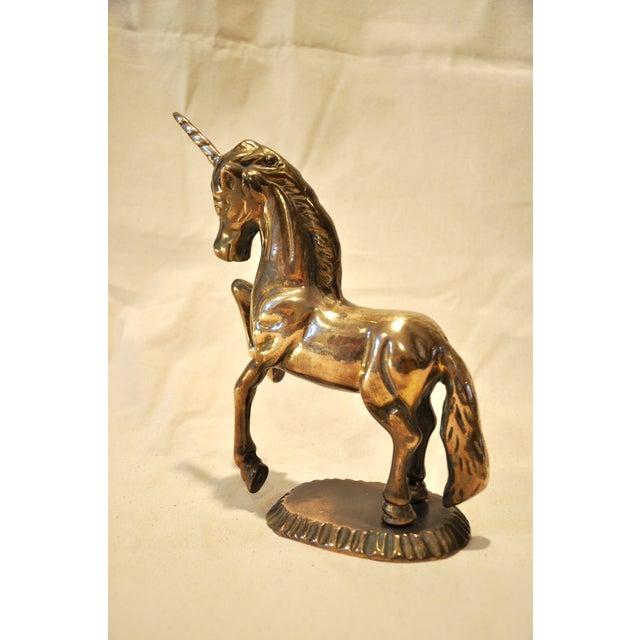 Vintage 1970s Brass Unicorn - Image 5 of 9