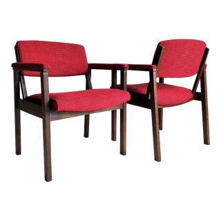 Modern Red Chairs - A Pair