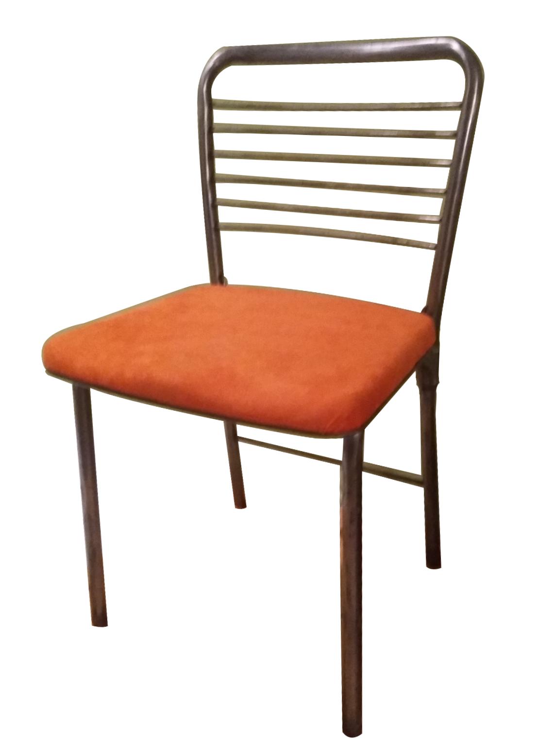 Mid Century Modern Industrial Metal Folding Chairs