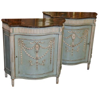 19th C. English Neoclassical Side Cabinets