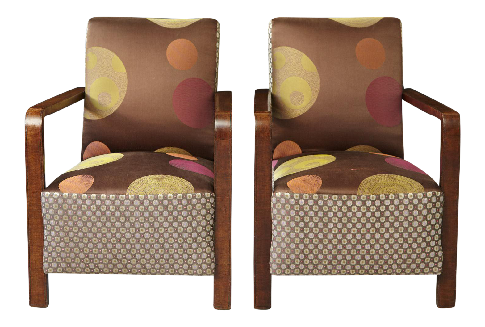 Pair Of 1920s Art Deco Lounge Chairs From Buenos Aires   Image 1 Of 11