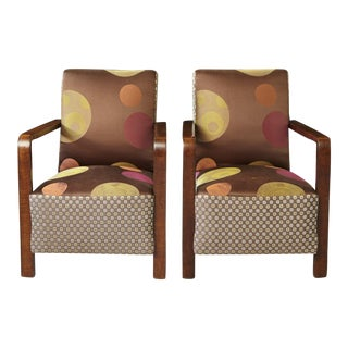Pair of 1920s Art Deco Lounge Chairs from Buenos Aires