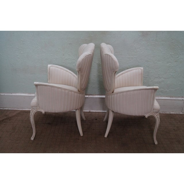 Hollywood Regency Fireside Host Accent Chairs - Image 3 of 10