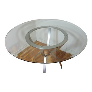 Ethan Allen Glass Round Dining Table