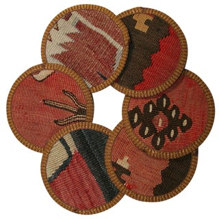 Kilim Salda Coasters - Set of 6