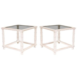 Mid-Century Faux Bamboo Tables - A Pair