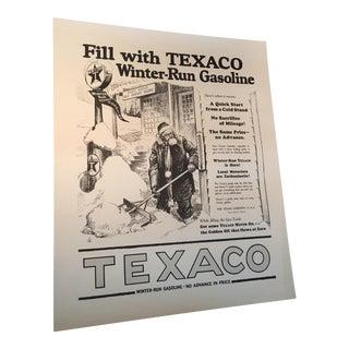 Texaco Gasoline Advertising Poster