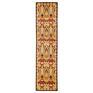 """Arts & Crafts Hand Knotted Runner - 2'5"""" X 9'10"""""""