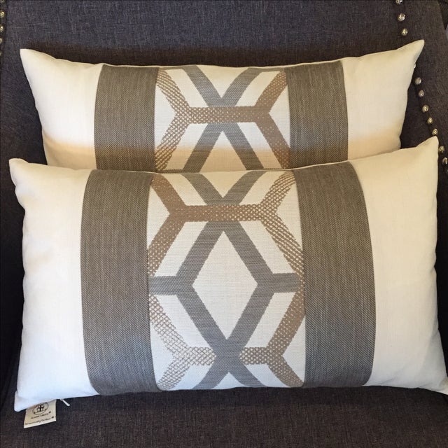 Elaine Smith Outdoor Kidney Pillows - A Pair - Image 2 of 5