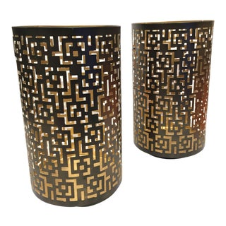 Hurricane Candle Holders - A Pair