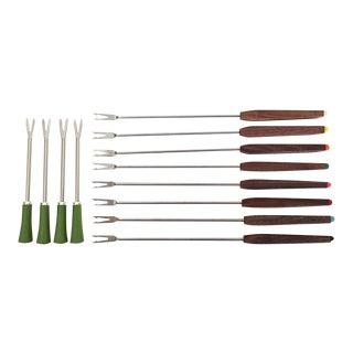 Mid-Century Fondue Forks - 12 Piece