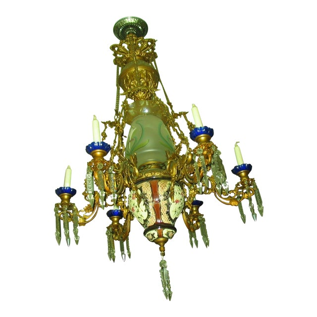 French Traditional Victorian Hall Chandelier 19th Century - Image 1 of 8