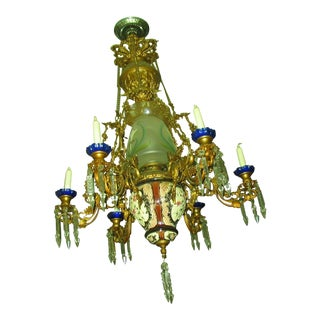 French Traditional Victorian Hall Chandelier 19th Century
