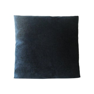 Black Chenille Decorative Square Pillow