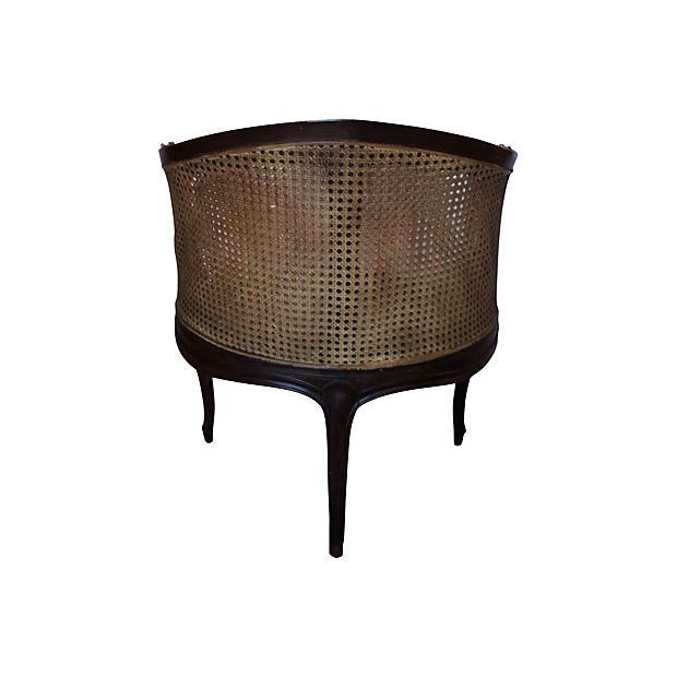 Image of Louis XV Style Carved Caned Corner Chair