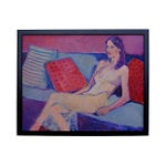 Image of 'On the Couch' Figural Painting