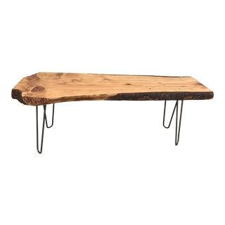 "Mid-Century Live Edge ""Surfboard"" Coffee Table"