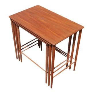 Vintage Grete Jalk Danish Nesting Side End Tables - Set of 3