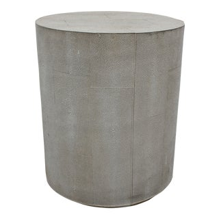 Barclay Butera Contemporary Shagreen Cylindrical Stool