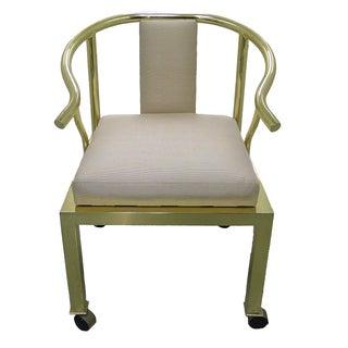 Brass Horseshoe Chair by Mastercraft