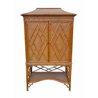 Rattan Pagoda Cabinet