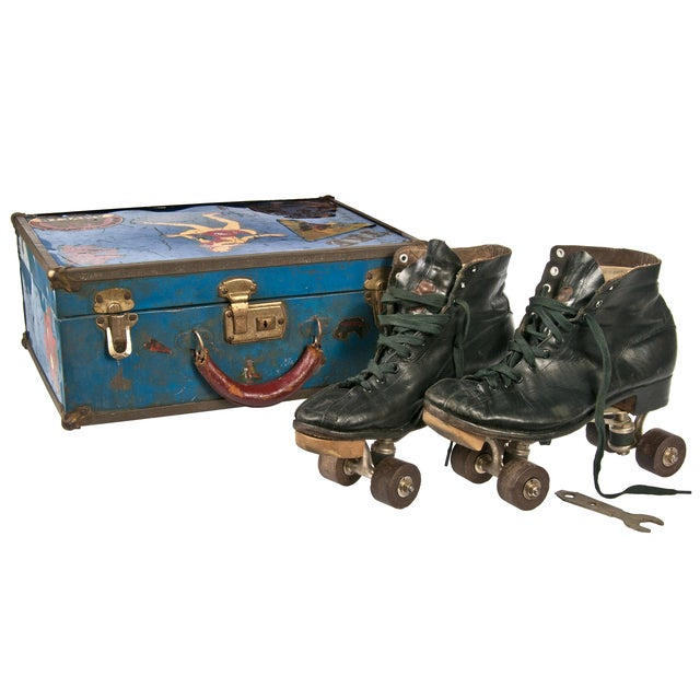 Image of Vintage Roller Skates & Case