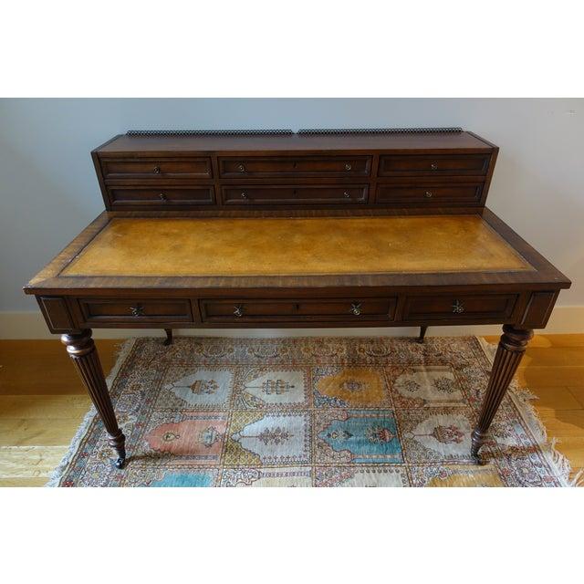Drexel Heritage Leather-Top Desk - Image 2 of 9