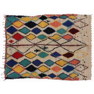 Vintage Berber Moroccan Rug - 4′8″ × 5′10″