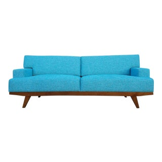 Electric Aqua Sofa