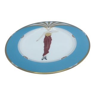 Le Soleil Turquoise Plate by Erte