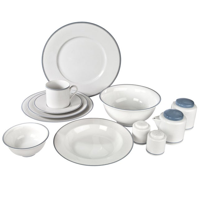 Dansk Damask Dinnerware By Jack Lenor Larsen - Image 1 of 6
