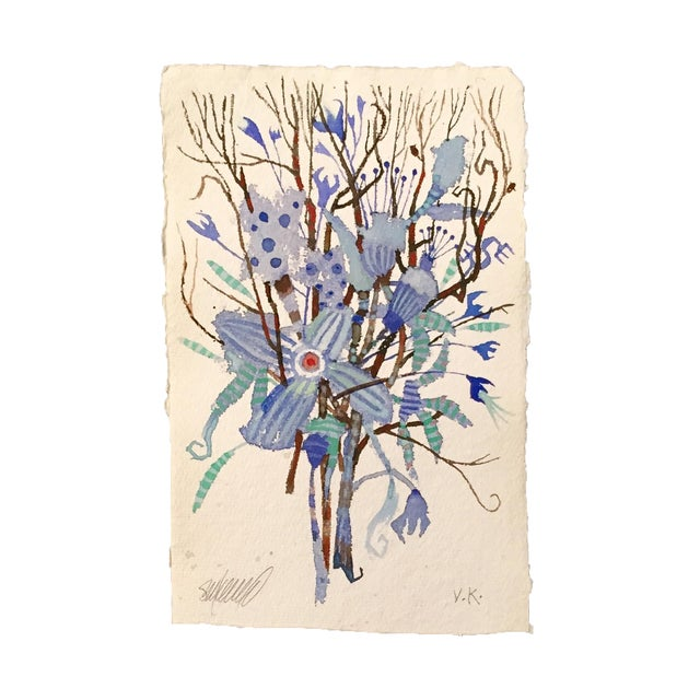"Image of ""Blue Brush"" Original Watercolor"