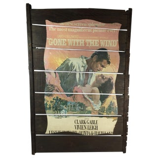 1940s Vintage Mounted Gone With The Wind Poster