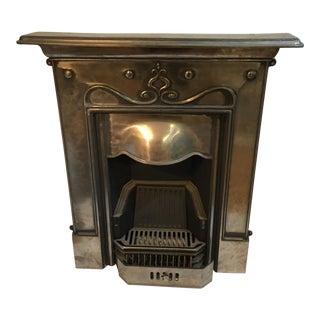 Art Nouveau Cast Iron Fireplace