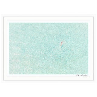 "Gray Malin Large Limited Edition ""Girl in Pink, Bora Bora"" (à La Plage) Signed Framed Print"
