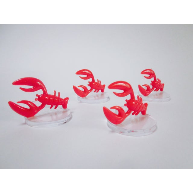 Lobster Lucite Place Card Holders - Set of 4 - Image 2 of 7