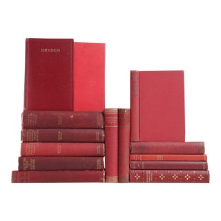 Red Distressed Poetry Classics - Set of 14