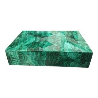 Russian Style Malachite Box
