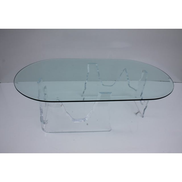 Lion in Frost Vintage Lucite Iceberg Coffee Table - Image 4 of 9