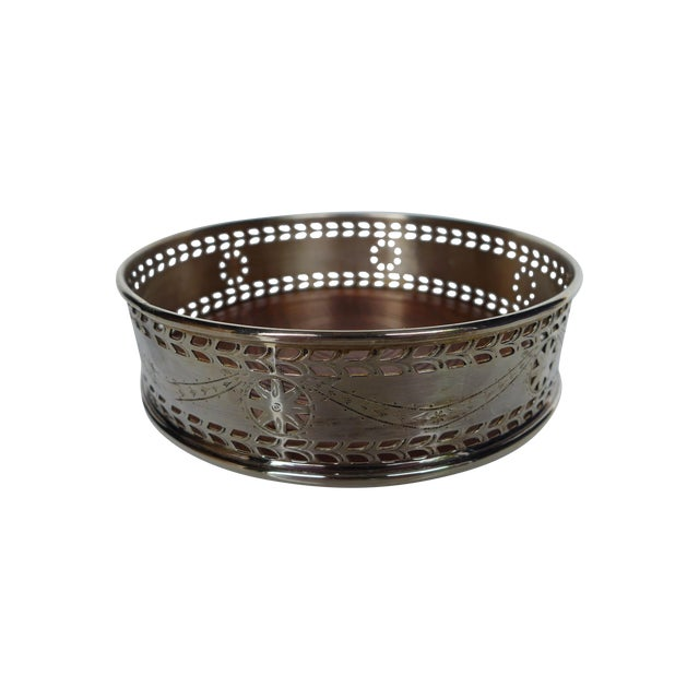 Pierced Silver Plated Wine Coaster - Image 1 of 6