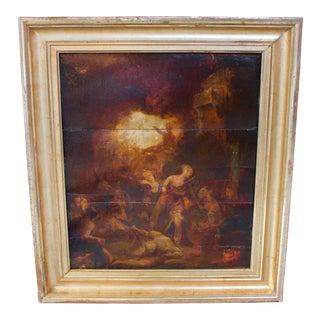 Edmond Aime Florentin Goffroy Oil on Panel Painting
