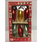 Image of Vintage German Christmas Ornaments & Box - Set of 6
