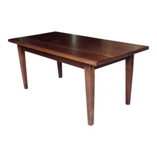 Dark Walnut Tapered Leg Farm Table