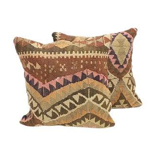Turkish Kilim Throw Pillows - A Pair
