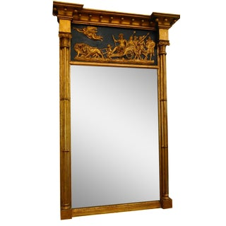 1825 Federal Gilt Gesso Over Wood Mirror
