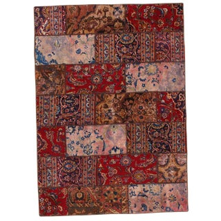 Pasargad N Y Persian Patch-Work Hand-Knotted Rug - 5′ × 7′